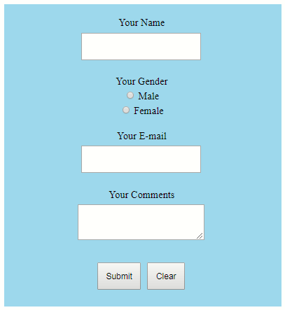 how to create a feedback form in html