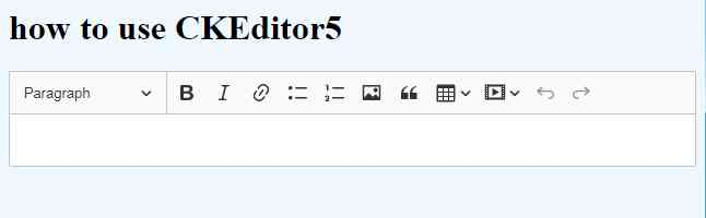 how to use CKEditor5